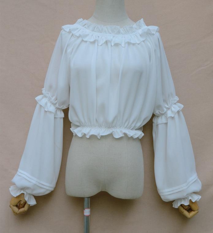 Pour En Haut Plus Blouse Mousseline Lanterne Long Taille Les Femmes Crop 2019 La Manches Top De Soie qwU6FSxt