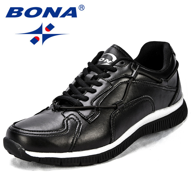 BONA New  Arrival Popular Style Men Walking Shoes Lace Up Men Athletic Shoes Synthetic Men Jogging Shoes Light Free Shipping