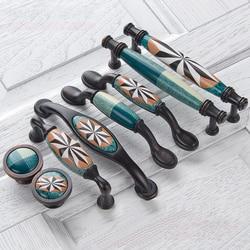 Керамические дверные ручки, европейские антикварные мебельные ручки, ручки для кухонного шкафа и ручки