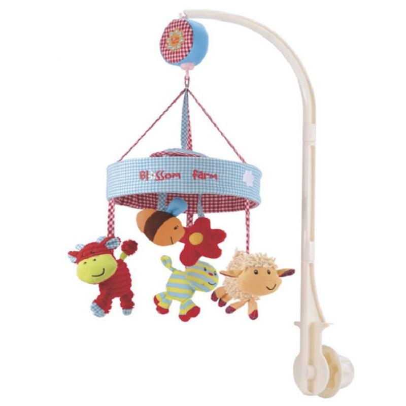 2018 En Lojë Shtrati Shitje të drejtpërdrejta Shishekë gome për Binjakë Foshnje Grazhd Baby Baby Baby Toys Lodër Muzikë Rrotulluese Ndihmë shumëngjyrëse Gjumë