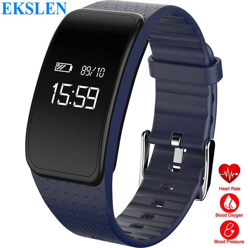 Ekslen A59 Smart Bracelet Moniteur de Fréquence Cardiaque Sang oxyge Sang Pression IP67 étanche Bande À Puce Bracelet Fitness tracker