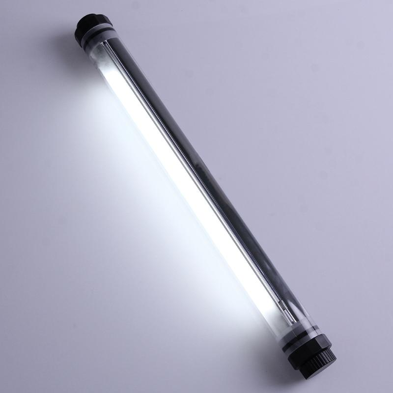 Tube imperméable Rechargeable en plein air USB Tube de LED Camping lumière multifonctionnel étanche Portable pêche randonnée Camping Tube