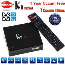KII Pro Amlogic S905 DVB S2 T2 Android smart Tv Box DVB-T2 DVB-S2 2G/16 GB WiFi BT4.0 Player K2 PRO mit cccam 7 cline für 1 jahr