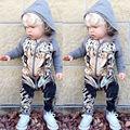Baby Kids Boy Girl Bodysuit Zip Jumpsuit Clothes Newborn Toddler Outfits