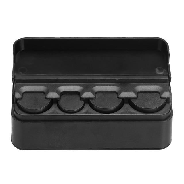 Black Car Interior Coin Pocket Case Automobiles Coins Storage Box Plastic Holder Container Organizer Auto Accessories