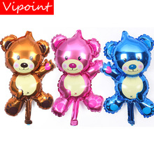 VIPOINT PARTY 28.5x44.5cm brown pink blue bear foil ballon wedding event christmas halloween festival birthday party HY-18