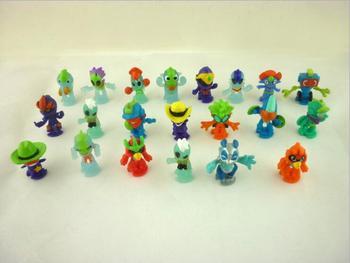 50 unids/lote Q versión mini 2,5 cm alien juguetes para niños, regalo...