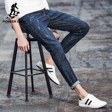 Pioneer camp moda jeans novos homens de algodão respirável elástica calças jeans casuais para homens slim fit jeans skinny de jeans masculinos 566080(China (Mainland))