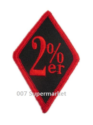 """Embroidered 3/"""" Biker Sew or Iron on Patch Biker Patch"""