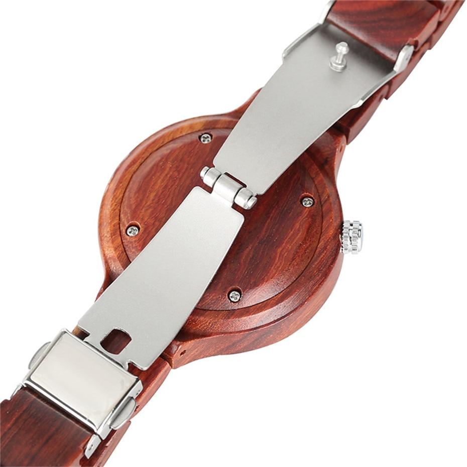 Fashion Natural Simple Casual Wood Bamboo Wooden Quartz Wrist Watches Ladies` Bracelet Clasp Analog Women Gift Clock Relojes (21)