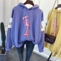 New Fashion Cute Hoodies Women Pink Panther Cartoon printing Large size Hoodies Sweatshirt in stock 241