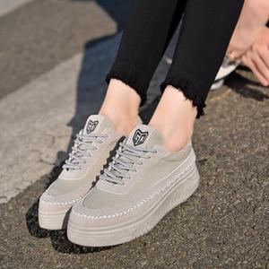 Image 5 - SWYIVY סניקרס אישה נעלי שחור 2019 חדש סתיו נשים של להחליק על נעלי בד מקרית סניקרס לנשים דירות לנשימה size40