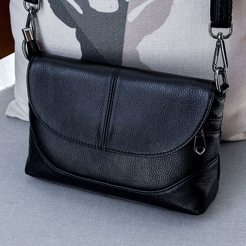 2019 New Genuine Leather Messenger Bags For Women Small Crossbody Bag Female Lady Shoulder Bags Day Clutch Bag Handbags