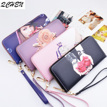 Woman's wallet Long Purses Tassel Fashion Coin Purse Card Holder Female High Quality Clutch Money Bag PU Leather Wallet  454
