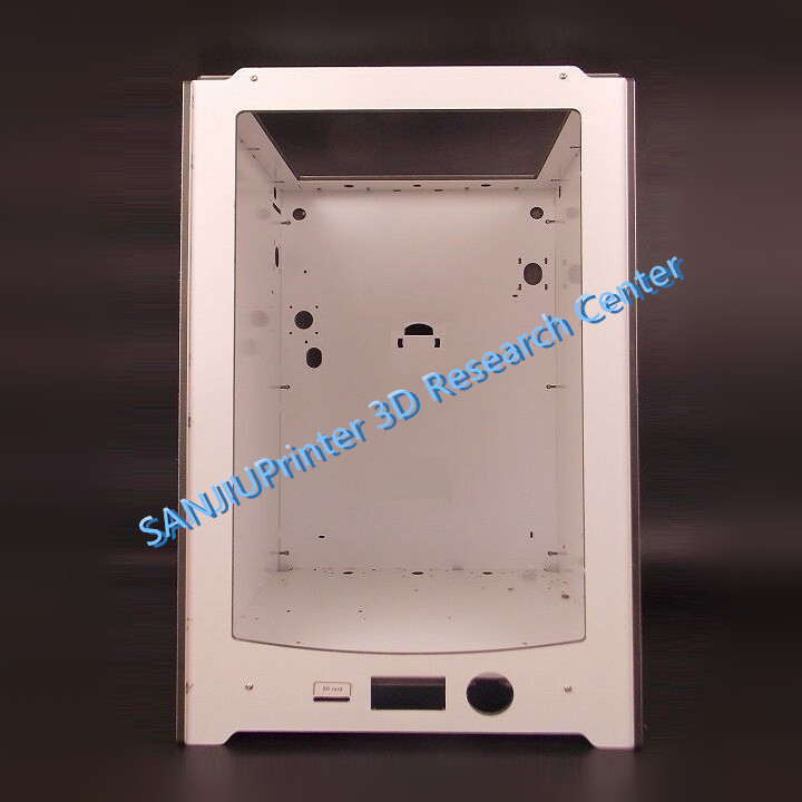 SANJIUPrinter For UM2 Ultimaker 2 Extended + Frame Shell Case Made by Thickness 6mm Aluminum Plate Free Shipping. ultimaker 2 extended assemble frame plate for diy 3d printer aluminum composite plate 6mm thickness case housing 350 390 340
