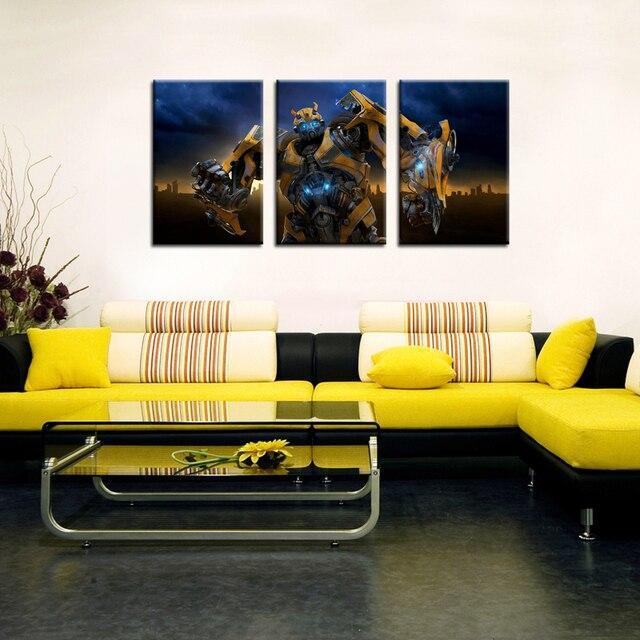 Modern Canvas Prints Artwork Theme deformation robot DIY Photo ...