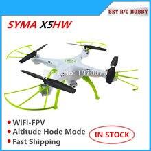 Original syma x5hw 2.4g rc quadcopter zangão helicóptero câmera de transmissão wi fi altitude hold modo pressão ar