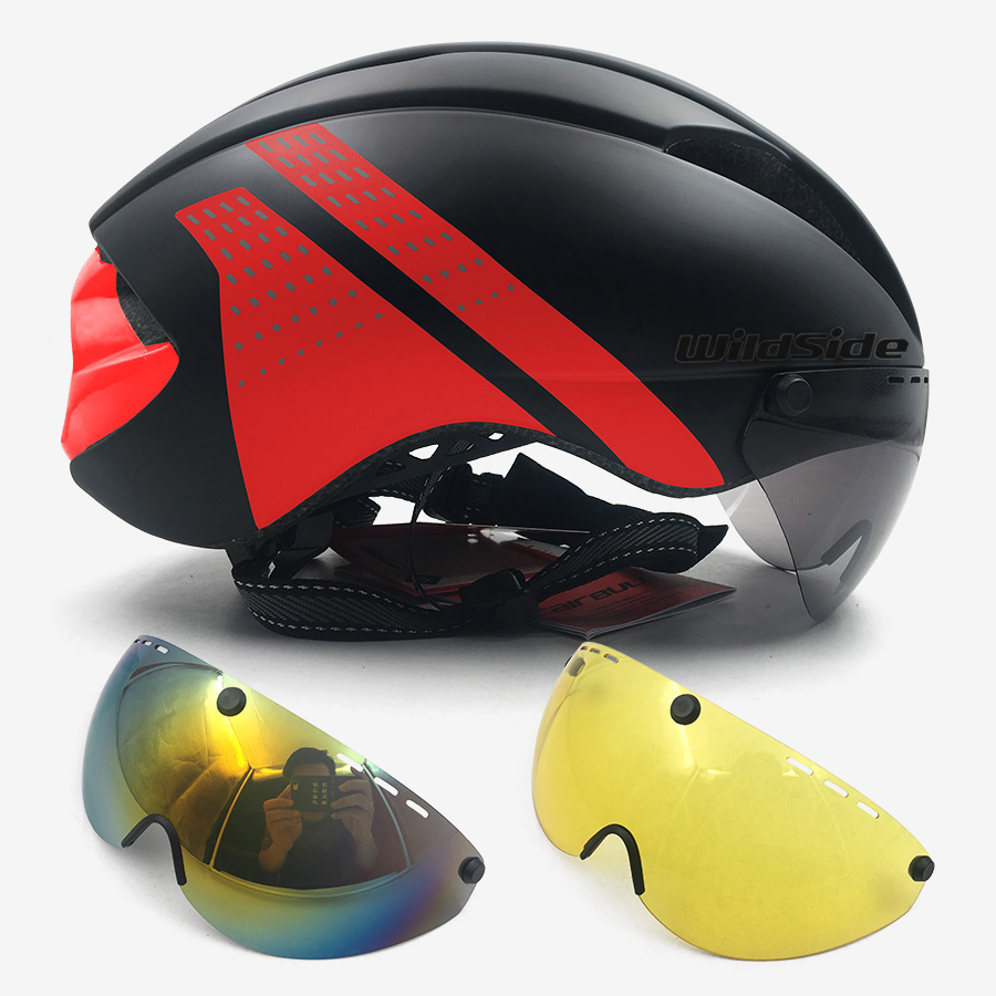 Bicycle TT Aero helmet Cycling helmet road MTB mountain integral triathlon bike helmet men race Airo