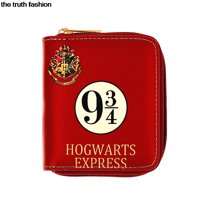 six colors pu short zipper purse harry potter women cion wallets Clutch bag hogwarts express hand takes the harry potter short wallets jack skellington man purse move wallet doctor who rick and morty cartoon kids cion purse
