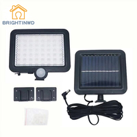 BRIGHTINWD 56 LED Solar Lamp Split Body Induction Wall Lamp Outdoor Home Courtyard Gate Light Control Lighting Street Light