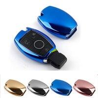 1pc TPU Rubber Key Bag Key Protective Sleeve Key Case Key Holder Housekeeper For Mercedes Benz