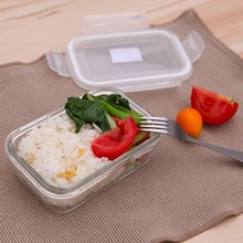 350ml Rectangle heat-resistant glass sealing preservation box lunch food container 15*10*5cm free shipping
