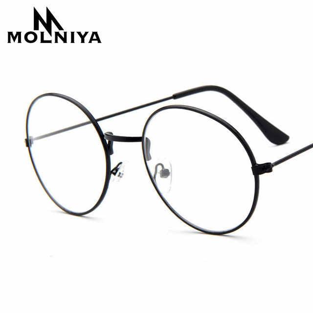 64c756c1fae5a MOLNIYA Cheap small round nerd glasses clear lens unisex gold round metal  frame glasses frame optical