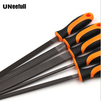 UNeeFull 5pcs Metal Needle Files Small Wooden Rasp Set Flat Round Square Triangle Needle Files For Woodworking Metalworking