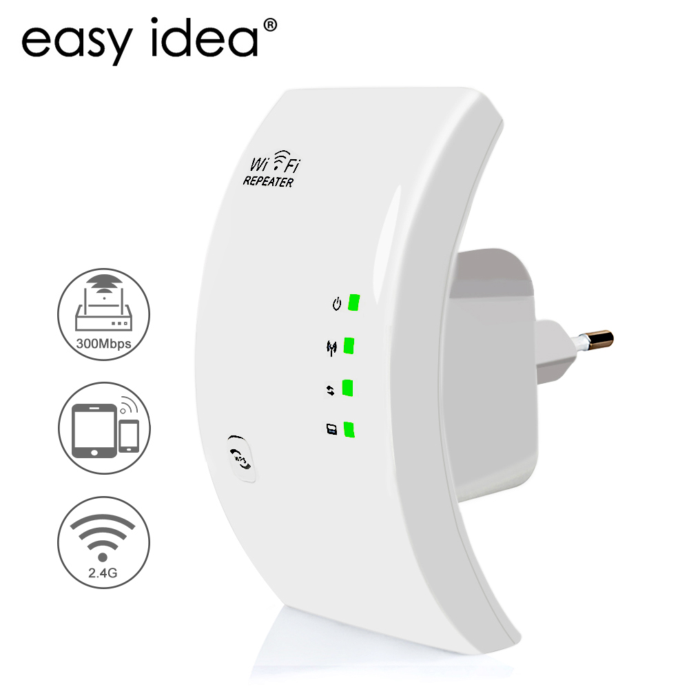 EASYIDEA Wireless WIFI Repeater 300Mbps Wifi Extender Long Range Wi fi Signal Amplifier Wi-fi Booster Access Point Wlan Repeater(China)