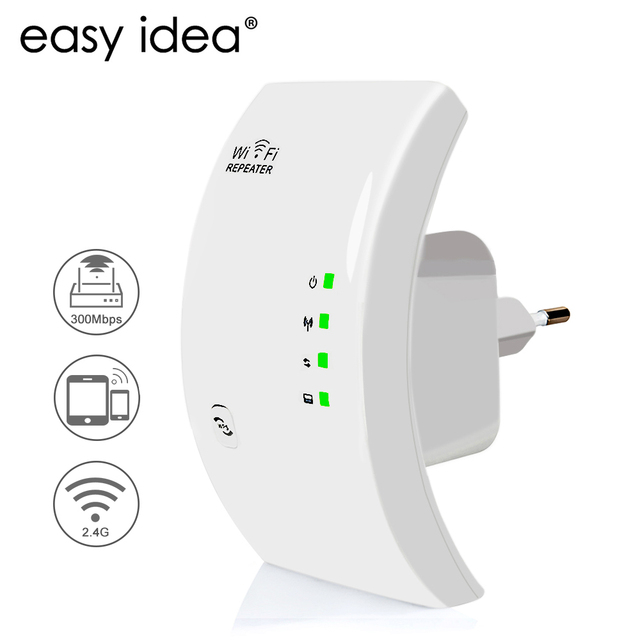 EASYIDEA Kablosuz WIFI Tekrarlayıcı 300 Mbps Ağ Anten Wifi Genişletici sinyal amplifikatörü 802.11n/b/g Sinyal Güçlendirici Repetidor Wifi