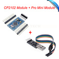 CP2102 Module + Pro Mini Module Atmega328 3.3V 8M For Arduino Compatible With Nano FZ0910+FZ0104