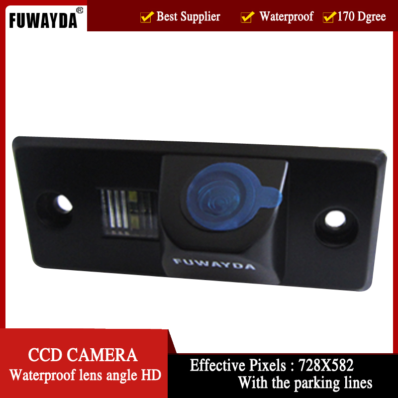 FUWAYDA parking CCD HD tylna kamera samochodowa dla PORSCHE CAYENNE VW SKODA FABIA TIGUAN TOUAREG 4.3 Cal składany Monitor LCD