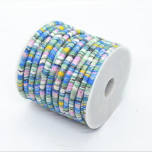 2m 6mm Bohemia Fabric Cotton Cords Rope String with Glitter Golden Wire Necklaces Bracelets Cord for DIY Handmade Jewelry Making
