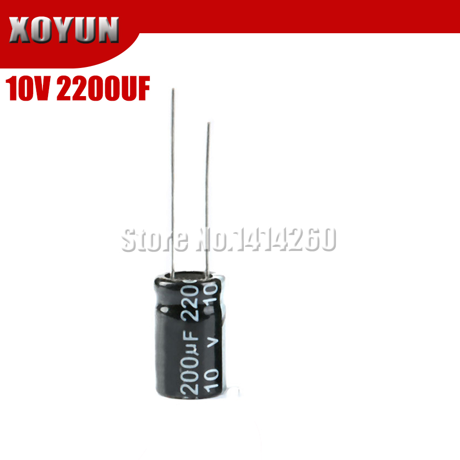 10PCS Higt Quality 10V2200UF 10X17mm 2200UF 10V 10*17 Electrolytic Capacitor