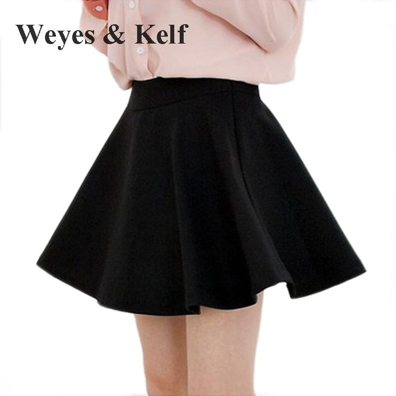 1f981ab88 Detail Feedback Questions about Weyes & Kelf Casual Solid A line Mini Skirts  Women For Spring 2018 Summer Short Pleated Skirts Black Blue on  Aliexpress.com ...