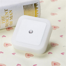 CHENGYILT newest Light Sensor Control Night Light Mini EU US UK Plug Novelty Square Bedroom lamp For Baby Gift