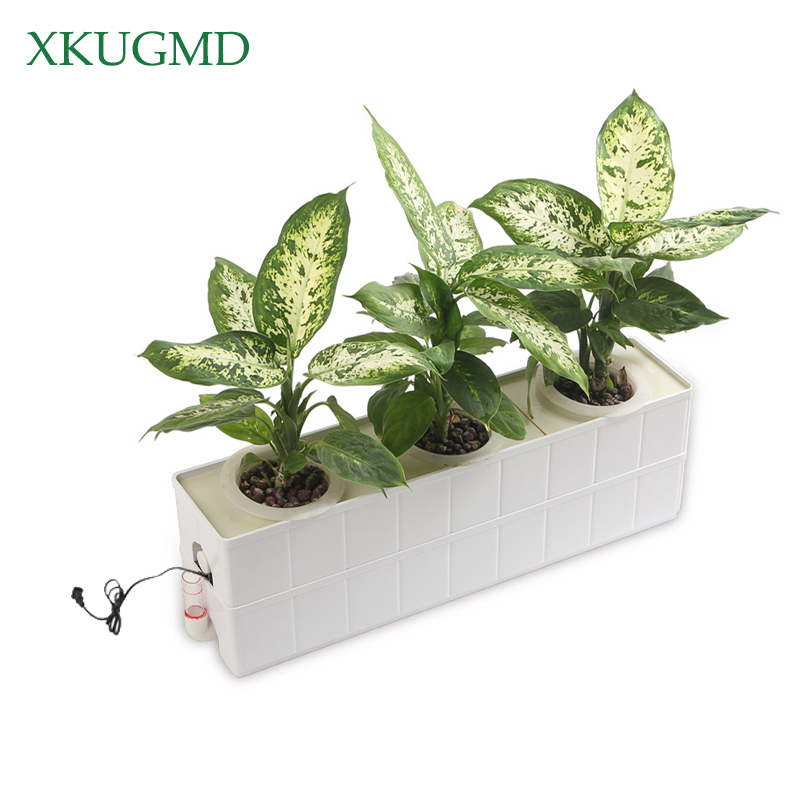 1 Set 3 Holes Plant Site Hydroponic System Soilless Nursery Pots Cultivation Plant Vegetable Seedling Grow