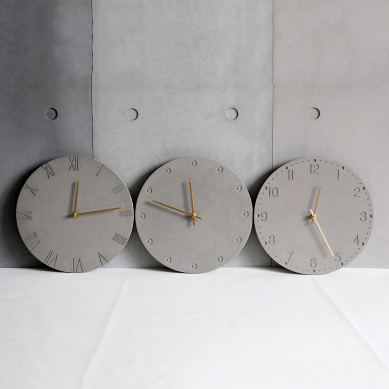 Wall Clock Silicone Molds DIY Concrete Wall Clock Molds Round Dish Molds Customized Made Tray Molds