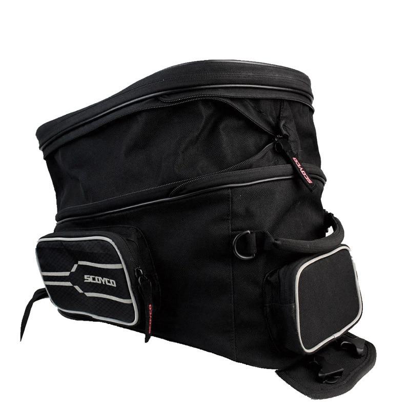 купить YUANMINGSHI Waterproof Motorcycle Tank Bag Helmet Motor Saddle Bag Luggage Motor Bike Fuel Tank Bags Saddle Bags недорого