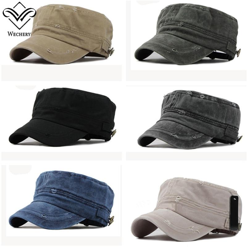 Wechery army Ladies Fashion Hat Solid Summer Spring Military Beige Black Grey White Navy Unisex Caps for Women Men