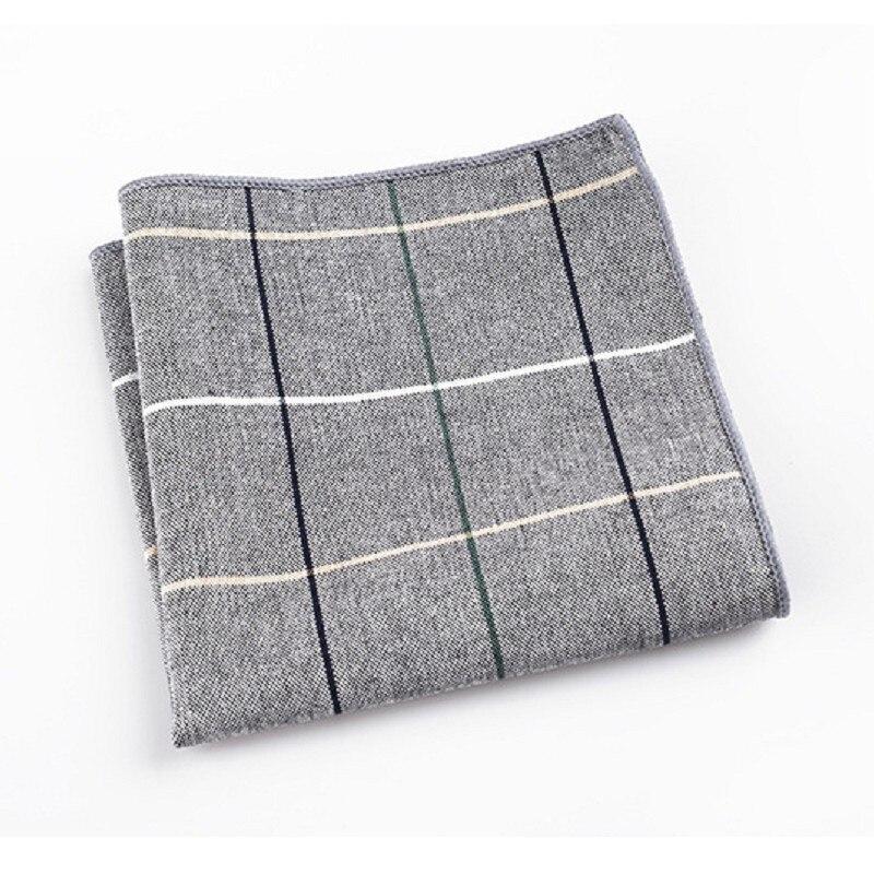 Men's Handkerchief Check Pocket Square Henky Hankie Pocket Towels Formal Wedding Accessories Hand Towel