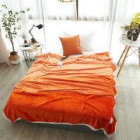Fashion Orange Bright Color Tarnish Cotton Felt Bedding Blanket Lace For Beds Fleece Warm Winter Sleeping Sofa Blanket 180x220cm