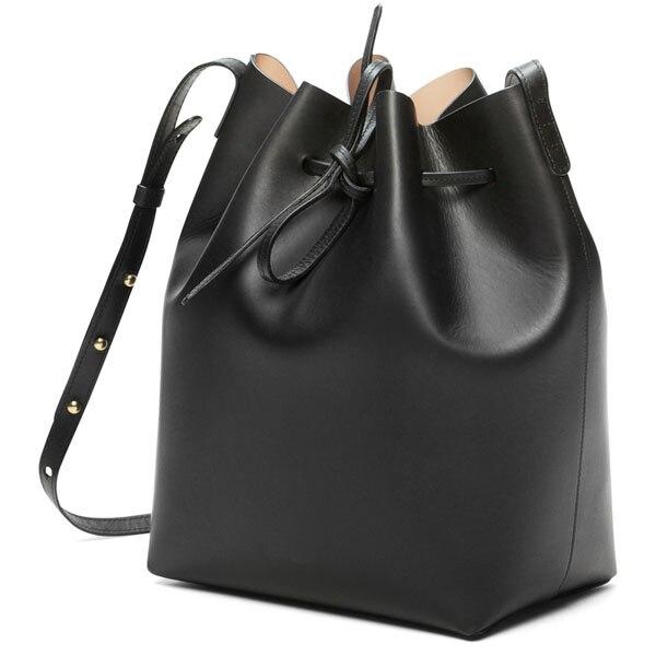 Us 36 92 29 Off Mansurstudios Women Real Leather Bucket Bag Mansur Lady Genuine Shoulder Bags Gavriel Handbag Free Shipping In