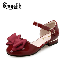 Girls Sandals Kids Leather Shoes Children Bowtie Sandals 2019 Summer Baby Flat Princess Party Dress Shoes Kids Casual Shoes 2017 summer girls sandals children princess shoes for party wedding dress dance kids toddler shoes baby flat sandals