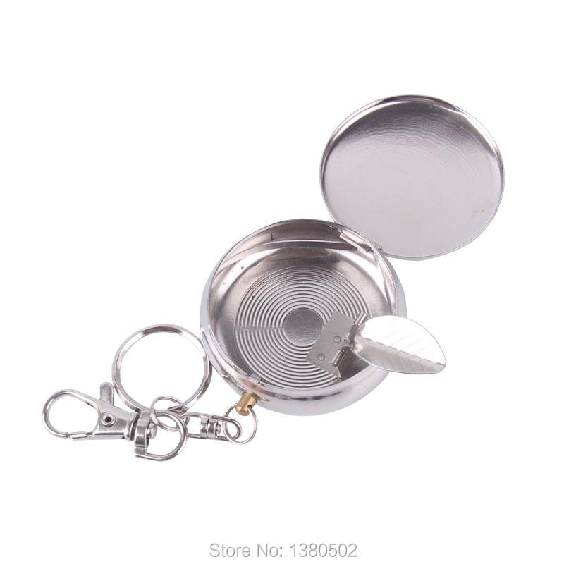 2pcs/lot Hot Fashion Pocket Portable Cinzeiro Smokeless Ashtray With Lids Gift For Friend Cenicero