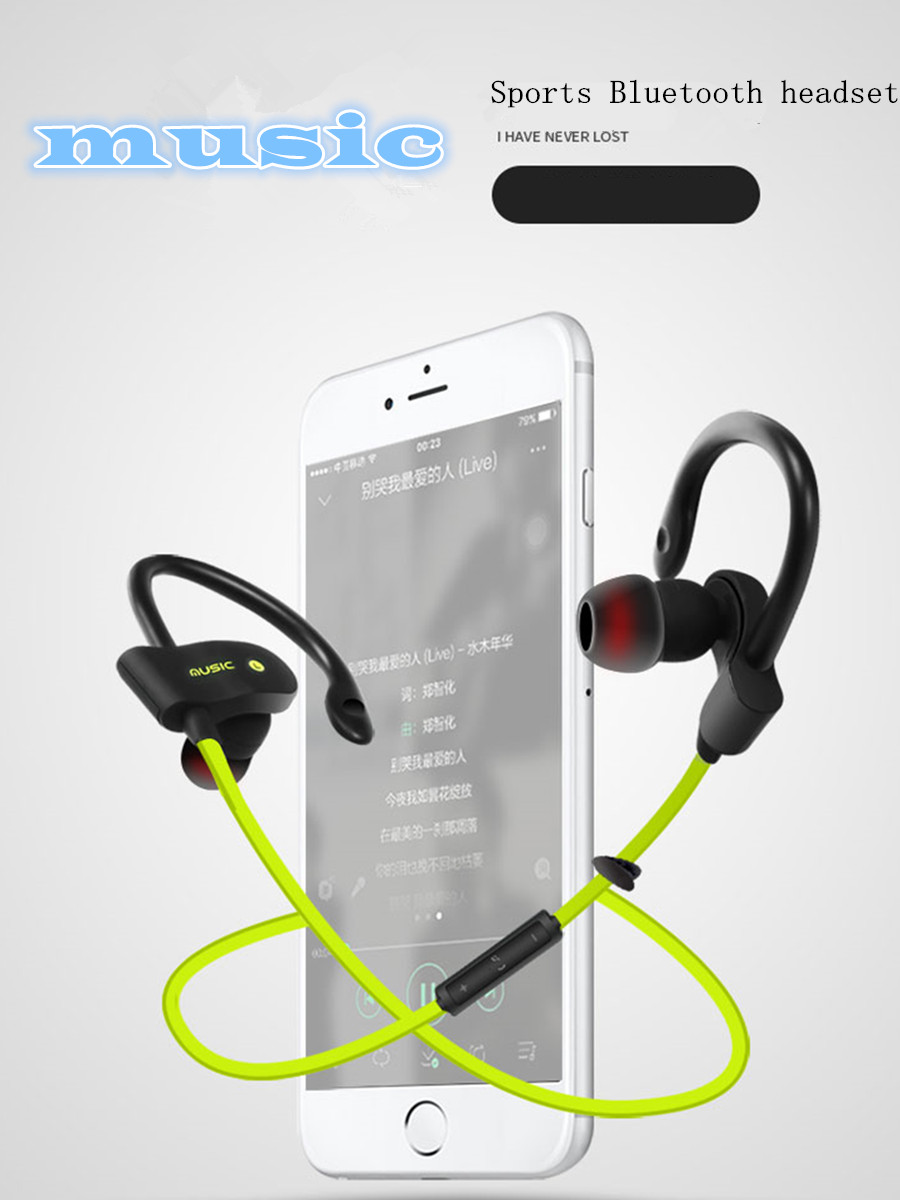 Aniwk wireless bluetooth headphones sports sweat proof stereo headphones headset in-ear headphones with microphone for smartphon new arrival awei a840bl wireless sports bluetooth 4 sweat proof for iphone android mp3 mp4 ipad ipod with microphone