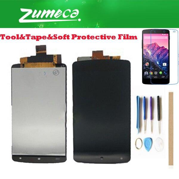 4.95 pollice Per LG Nexus 5 D820 D821 LCD Screen Display + Touch Screen Digitizer Assembly Parte di Ricambio di Colore Nero con i Kit