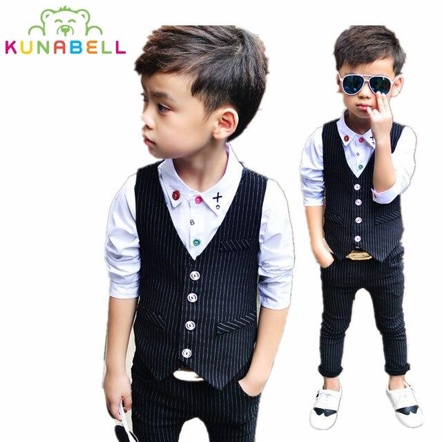 2017 New Baby Boys Clothing Sets Kids vest + pants 2 pcs Clothes Sets  Children Boy Formal Suit Children Boy Clothing Set B012