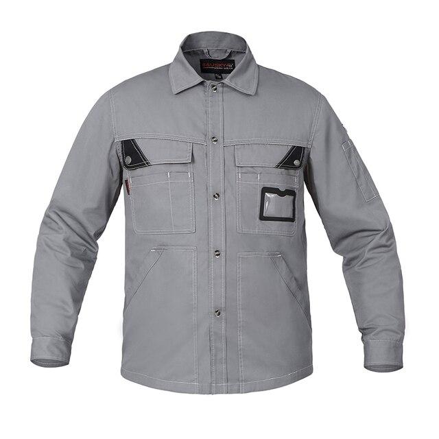 남성 Workwear 자켓 긴팔 얇은 여름 작업복 유니폼 남성 노동 방지 공구 자동 수리 작업 재킷