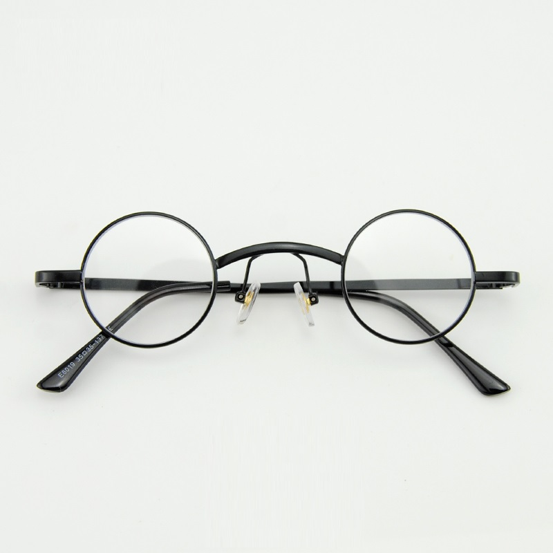 7b2cb8a1857 Cubojue 36mm Small Round Glasses Men Women Steampunk 80s 70s Eyeglasses  Frame for Myopia Diopter Vintage Punk Little Circle Nerd-in Eyewear Frames  from ...